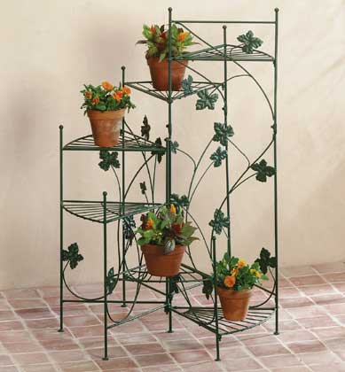 Marvelous Airy Strands Of Ivy Grace This Staircase Style Plant Stand. Six Shelves  Place Plants At Graduating Heights, Creating A Dramatic Display Of Greenery.